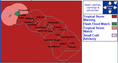 Warning map